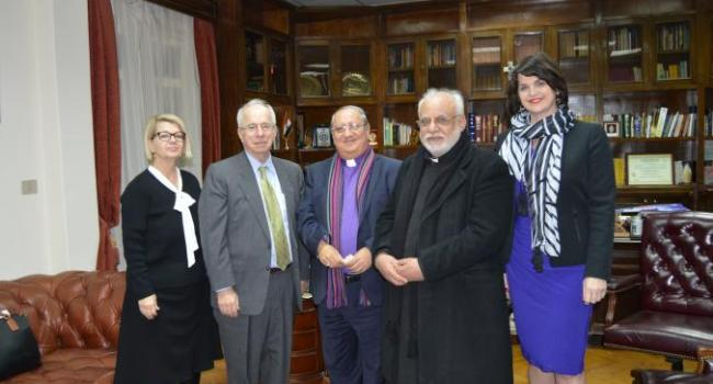 USCIRF delegation meets with Rev. Sammeh Maurice and Pastor Atef Sami of the Qasr al-Dubbara Church