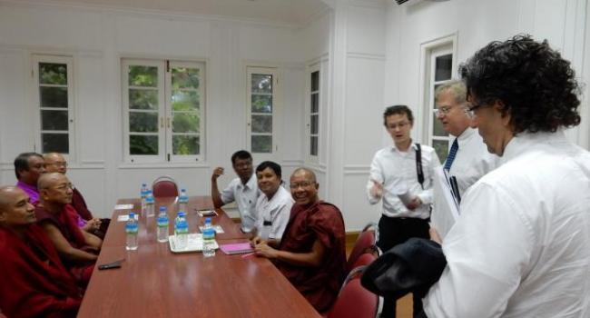 Meeting with religious, interfaith leaders, including Christians, Buddhists, Hindus and Muslims.