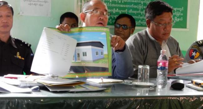 Officials from the Meiktila District Administrative Office.