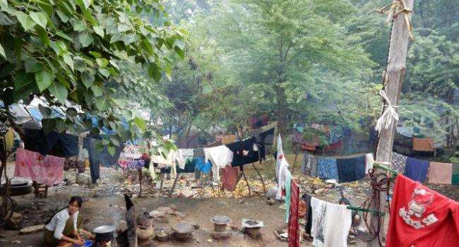 A camp for internally displaced Buddhists in Meiktila.