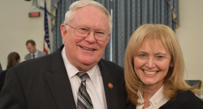 USCIRF Vice-Chair Dr. Katrina Lantos Swett with Rep. Joe Pitts