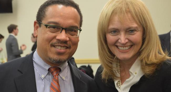 USCIRF Vice-Chair Dr. Katrina Lantos Swett with Rep. Keith Ellison