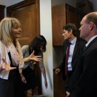 USCIRF Chair Dr. Katrina Lantos Swett meeting with Senator Chris Coons.