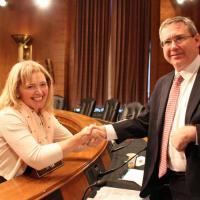 USCIRF Chair Dr. Katrina Lantos Swett with Senator Mark Kirk.