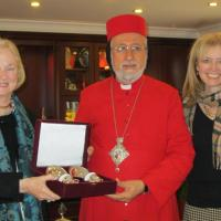 USCIRF Vice Chair Katrina Lantos Swett and Commissioner Mary Ann Glendon with His Eminence Yusuf Cetin, Syrian Orthodox Metropolitan