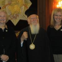 USCIRF Vice Chair Katrina Lantos Swett and Commissioner Mary Ann Glendon with His All Holiness, Ecumenical Patriarch Bartholomew I