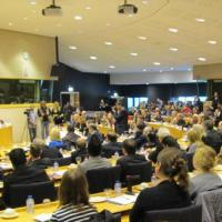 USCIRF Commissioners speaking at a meeting in the European Parliament on February 12, 2014
