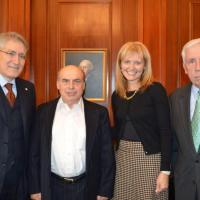 From left to right: USCIRF Chair Dr. Robert P. George, Mr. Natan Sharansky, USCIRF Vice-Chair Katrina Lantos Swett, and Tom Lantos Human Rights Commission (TLHRC) Co-Chair Frank Wolf.