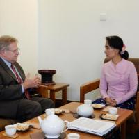 USCIRF Commissioner Eric P. Schwartz with Daw Aung San Suu Kyi