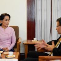 USCIRF Commissioner M. Zuhdi Jasser with Daw Aung San Suu Kyi.