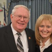 USCIRF Vice-Chair Dr. Katrina Lantos Swett with Rep. Joe Pitts