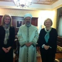 USCIRF Vice Chair Katrina Lantos Swett and Commissioner Marry Ann Glendon with Mehmet Gormez, President, Diyanet
