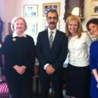 USCIRF Vice Chair Katrina Lantos Swett and Commissioner Mary Ann Glendon with Lanki Vingas