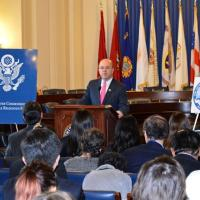 Rep. James McGovern (D-MA), co-chair of the Tom Lantos Human Rights Commission, providing remarks at the Defending Freedoms Project announcement on December 6, 2012