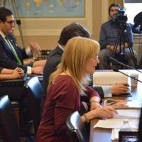 USCIRF Chair Dr. Katrina Lantos Swett testifying on Iran before the Tom Lantos Human Rights Commission, March 15, 2013