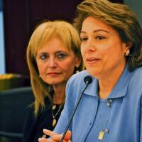 USCIRF Chair Katrina Lantos Swett and Commissioner Azizah al-Hibri, July 12, 2012