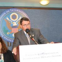 USCIRF Chair Leonard Leo during the Q&A session
