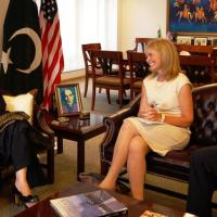 USCIRF Chair Katrina Lantos Swett and USCIRF Director for Policy and Research Knox Thames meet with Pakistani Ambassador Sherry Rehman, August 2012