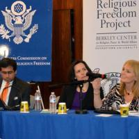 USCIRF Chair Katrina Lantos Swett and USCIRF Deputy Director Elizabeth Cassidy provide remarks at Berkley Center's Policy Consultation on Religious Freedom, Violent Religious Extremism, and Constitutional Reform, December 7, 2012