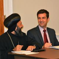 Bishop Angaelos and USCIRF Deputy Director for Policy and Research Dwight Bashir at International Religious Freedom Caucus Briefing, September 20, 2012