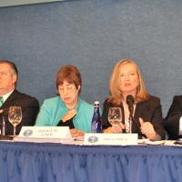 Commissioners answering questions during the Q&A session