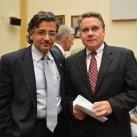USCIRF Commissioner Dr. M. Zudhi Jasser with Representative Chris Smith (R-NJ), June 25, 2013