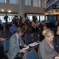The audience at the 2010 Annual Report press conference