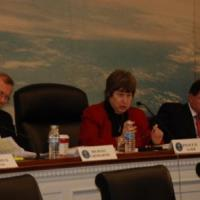 Commissioners Cromartie and Leo with USCIRF chair Felice Gaer
