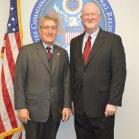 Shaun Casey, Special Advisor and Director of the Office of Faith Based Community Initiatives, meets with USCIRF Chairman Robert P. George