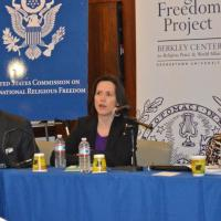 USCIRF Deputy Director for Policy and Research Elizabeth Cassidy speaks at Berkley Center's Policy Consultation on Religious Freedom, Violent Religious Extremism, and Constitutional Reform, December 7, 2012