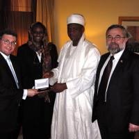 USCIRF chair Leonard Leo and commissioner Eid  in Nigeria