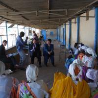 USCIRF chair Leonard Leo and commissioner Felice Gaer in Sudan