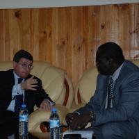 USCIRF chair Leonard Leo in Sudan