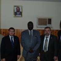 USCIRF chair Leonard Leo and commissioner Eid