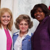 USCIRF Chair Katrina Lantos Swett, Chairman of the Lantos Foundation for Human Rights and Justice Annette Lantos, and U.S. Ambassador-at-Large for International Religious Freedom Suzan Johnson Cook, July 19, 2012