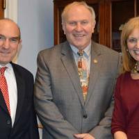 USCIRF Chair Katrina Lantos Swett and Commissioner Elliott Abrams meet with Representative Steve Chabot (R-OH), February 26, 2013