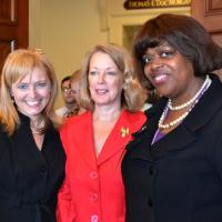 USCIRF Chair Katrina Lantos Swett and USCIRF Executive Director Jackie Wolcott with U.S. Ambassador-at-Large for International Religious Freedom Suzan Johnson Cook on June 27, 2012