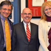 USCIRF Chair Katrina Lantos Swett and Commissioner M. Zuhdi Jasser meet with Representative Henry Waxman (D-CA), February 27, 2013