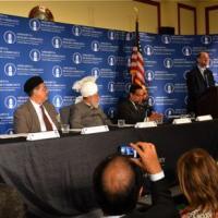 Representative Brad Sherman (D-CA) at reception welcoming the Leader of the Ahmadiyya Muslim Community, June 27, 2012