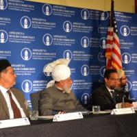 Representative Frank Wolf (R-VA) Chairman of the Tom Lantos Human giving remarks at reception for the leader of the Ahmadiyya Muslim Community, June 27, 2012