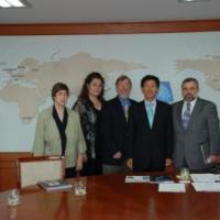 USCIRF chair Felice Gaer and commissioners Elizabeth prodromou, Michael Cromartie, and Imam Eid in South Korea
