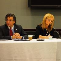 USCIRF Commissioner M. Zuhdi Jasser and USCIRF Chair Katrina Lantos Swett at International Religious Freedom Roundtable