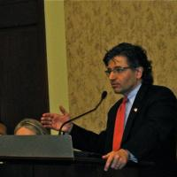 USCIRF Commissioner M. Zuhdi Jasser giving remarks at the Coptic Solidarity Third Annual Conference, June 28, 2012