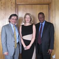 USCIRF Commissioner M. Zuhdi Jasser and Executive Director Jackie Wolcott with the Ethiopian Human Rights Commission, Chief Commissioner H.E. Ambassador Tiruneh Zenna, December 17, 2012
