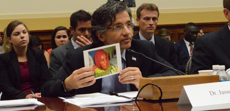 USCIRF Commissioner Dr. Zuhdi Jasser testifying on 'The Troubling Case of Meriam Ibrahim,' July 23, 2014