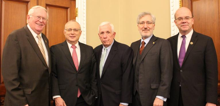 Joseph Pitts, David Saperstein, Frank Wolf, Robert P. George, James McGovern