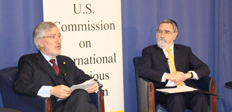 Robert P. George and Rabbi Lord Jonathan Sacks
