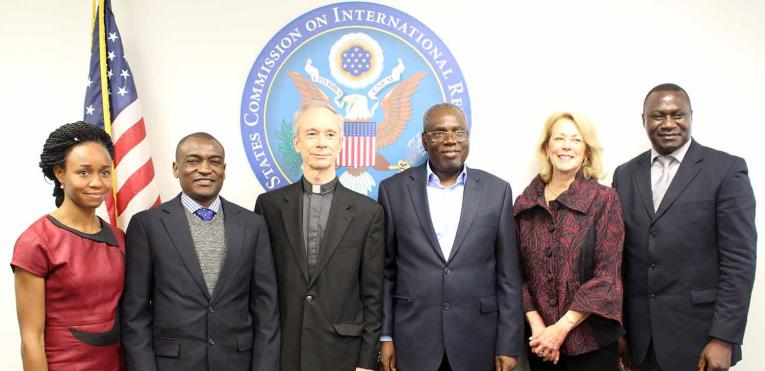 USCIRF Chair Thomas J. Reese, S.J and Commissioner Jackie Wolcott meet with a Nigerian delegation of National Assembly Members, March 23, 2017